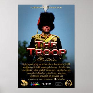 Poster Affiche de dirigeant de troupe du cadre 61x91cm