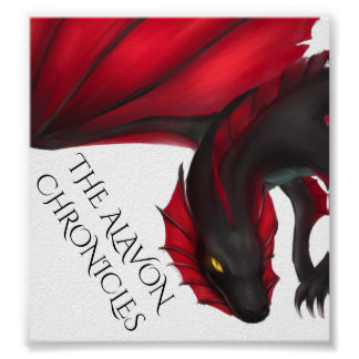 Poster Affiche de dragon d'Alavon en vol