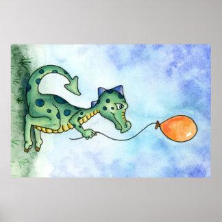 Poster Affiche de dragon de ballon