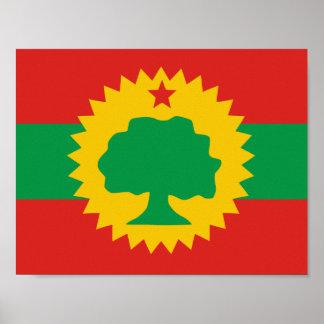 Poster Affiche de drapeau d'Oromo