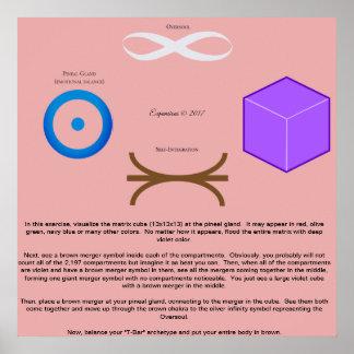 Poster Affiche de fusionnement d'exercice cubée par 13