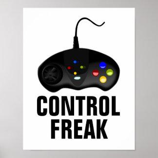 Poster Affiche de Gamer de maniaque du contrôle