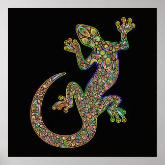 Poster Affiche de Gecko