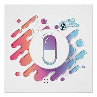 Poster Affiche de Gloossy de pilule de gradient