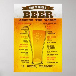 Poster Affiche de guide d'ordre de bière