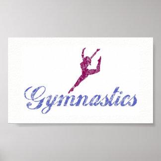 Poster Affiche de gymnastique
