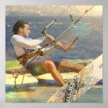 Poster Affiche de kitesurf