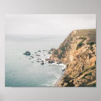 Poster Affiche de la côte   de la Californie du nord