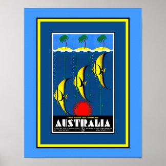 Poster Affiche de la Grande barrière de corail
