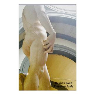 Poster Affiche de la main de David