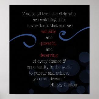 Poster Affiche de la parole de concession de HRC