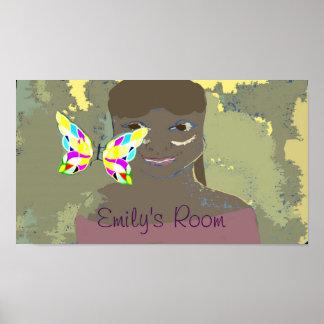 Poster affiche de la pièce de la fille faite sur commande