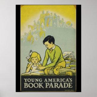 Poster Affiche de la semaine du livre de 1932 enfants