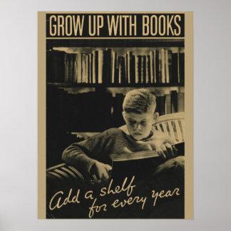 Poster Affiche de la semaine du livre de 1933 enfants