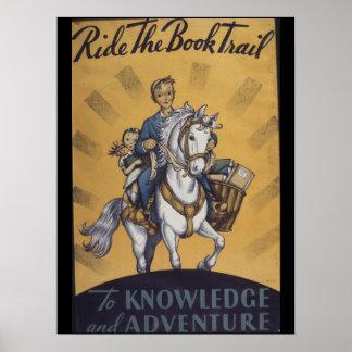 Poster Affiche de la semaine du livre de 1934 enfants