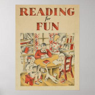 Poster Affiche de la semaine du livre de 1935 enfants