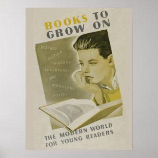 Poster Affiche de la semaine du livre de 1936 enfants