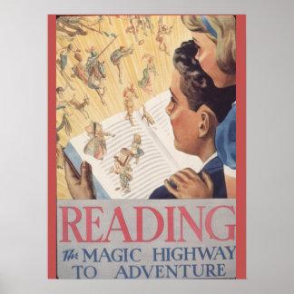Poster Affiche de la semaine du livre de 1937 enfants