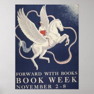 Poster Affiche de la semaine du livre de 1941 enfants
