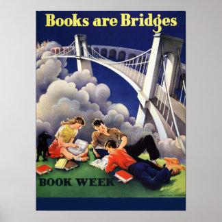 Poster Affiche de la semaine du livre de 1946 enfants