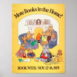 Poster Affiche de la semaine du livre de 1979 enfants