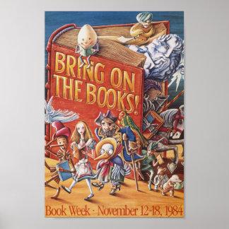 Poster Affiche de la semaine du livre de 1984 enfants