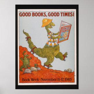 Poster Affiche de la semaine du livre de 1985 enfants