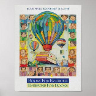 Poster Affiche de la semaine du livre de 1994 enfants