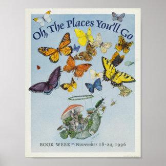 Poster Affiche de la semaine du livre de 1996 enfants