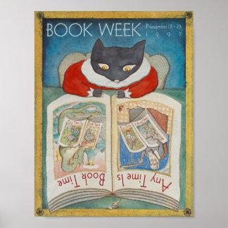 Poster Affiche de la semaine du livre de 1997 enfants
