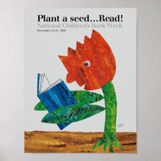 Poster Affiche de la semaine du livre de 1999 enfants