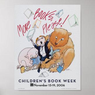 Poster Affiche de la semaine du livre de 2006 enfants