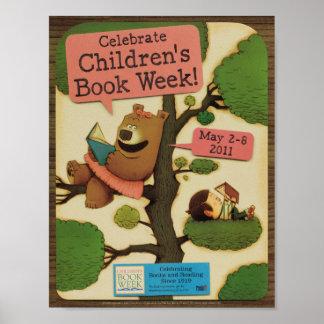 Poster Affiche de la semaine du livre de 2011 enfants