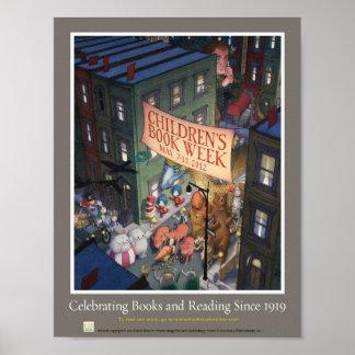 Poster Affiche de la semaine du livre de 2012 enfants
