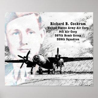 Poster Affiche de l'Armée de l'Air de Richard Cockrum