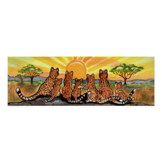 Poster Affiche de lever de soleil de CUB Afrique
