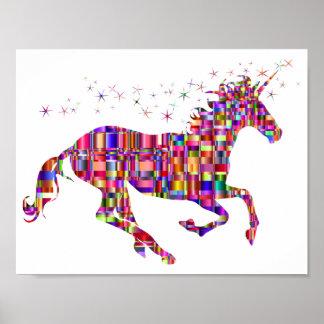 Poster Affiche de licorne d'arc-en-ciel pour des enfants
