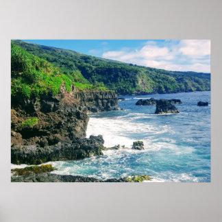 Poster Affiche de littoral de Maui