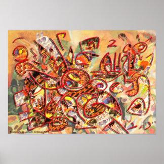 Poster Affiche de l'oeuvre «Heureuse» de Luciano