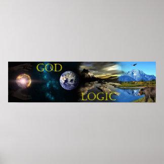 Poster Affiche de logique de Dieu