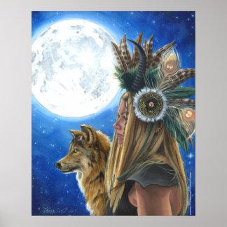 Poster Affiche de loup d'affiche de Viking d'affiche de