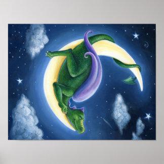 Poster Affiche de lune de dragon
