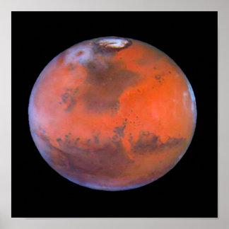 Poster Affiche de Mars de planète