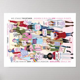 Poster Affiche de mars des femmes