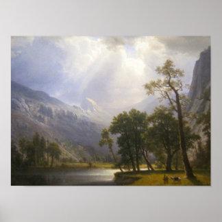 Poster Affiche de matte de vallée de Yosemite