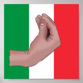 Poster Affiche de Meme d'Italien
