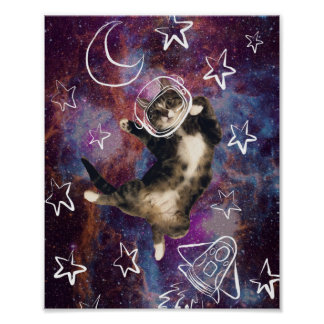 Poster Affiche de Meowstronaut Kiba