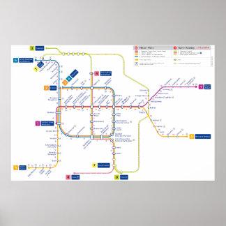 Poster Affiche de métro de Bruxelles