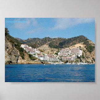 Poster Affiche de montagnes d'île de Catalina