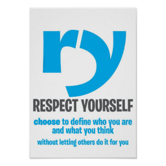 Poster Affiche de motivation - respect vous-même [prolong